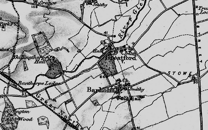 Old map of Banthorpe Wood in 1895