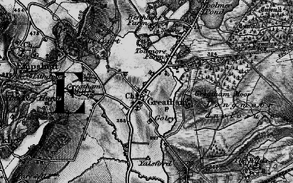 Old map of Woolmer Pond in 1895