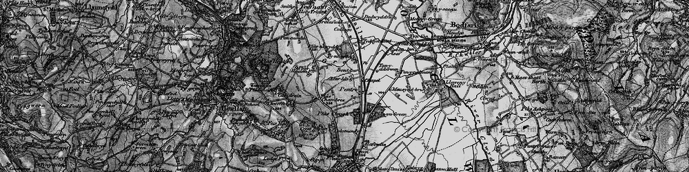 Old map of Accar Las in 1897