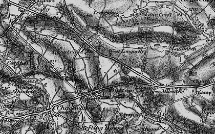 Old map of Green Bottom in 1895