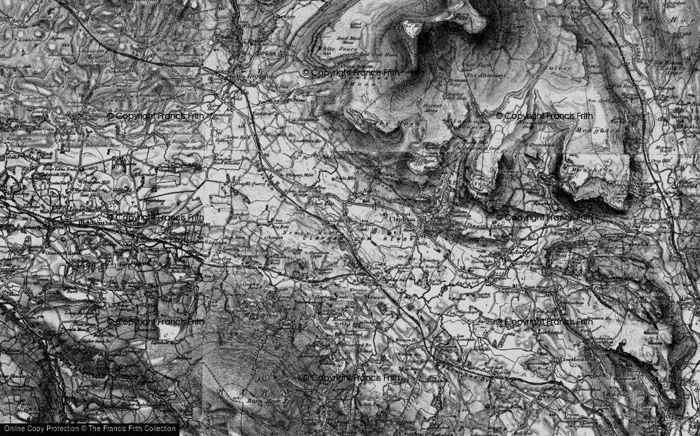 Old Map of Historic Map covering Newby Moor in 1898