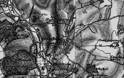 Old map of Green End in 1896
