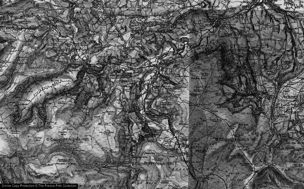 Old Map of Historic Map covering Beck Hole in 1898