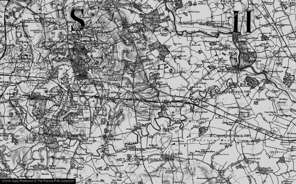 Old Map of Green Hammerton, 1898 in 1898