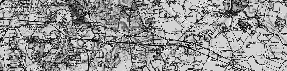 Old map of Green Hammerton in 1898