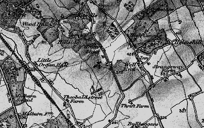 Old map of Green Street in 1896