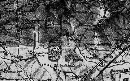 Old map of Woodlands Farmhouse in 1896