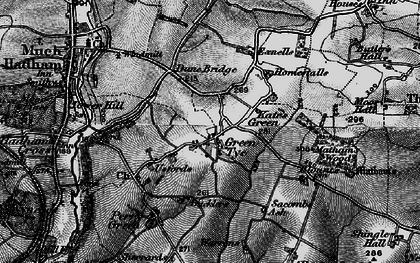 Old map of Green Tye in 1896
