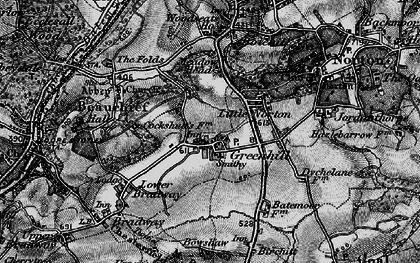 Old map of Greenhill in 1896