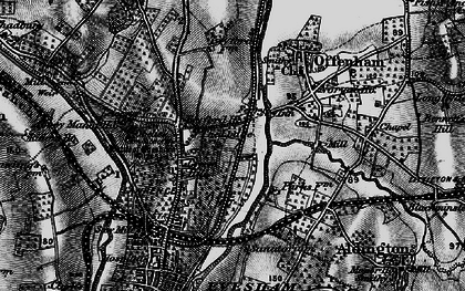 Old map of Leicester Tower in 1898