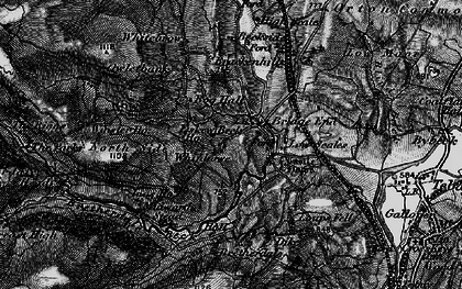Old map of Whinash in 1897