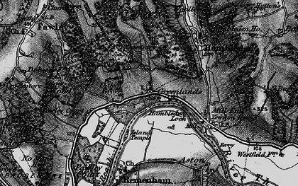 Old map of Woolleys in 1895