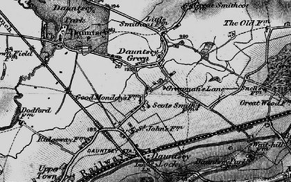 Old map of Greenman's Lane in 1898
