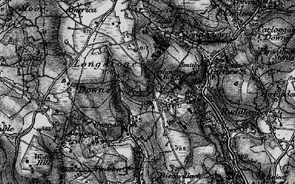 Old map of Greensplat in 1895