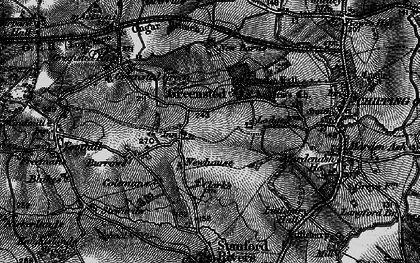 Old map of Greensted in 1896