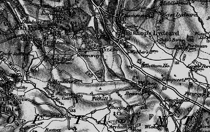 Old map of Ash Priors Common in 1898