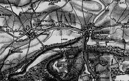Old map of Greenwich in 1895