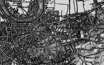 Old map of Greenwich in 1896