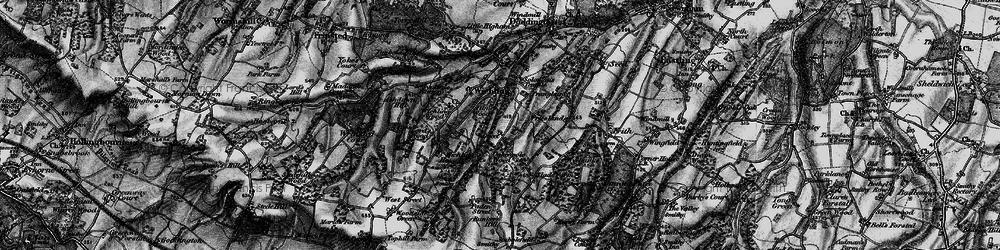 Old map of Wichling Wood in 1895