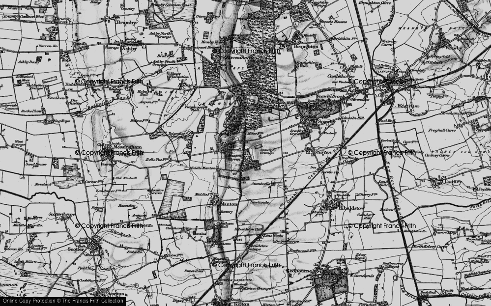 Old Map of Historic Map covering Aldham Plantn in 1898
