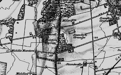 Old map of Greetwell in 1898