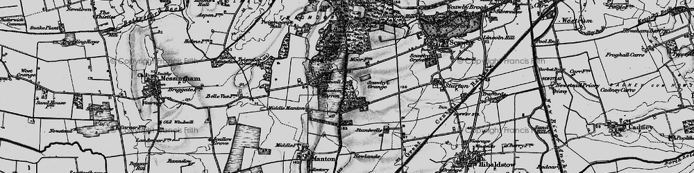 Old map of Aldham Plantn in 1898