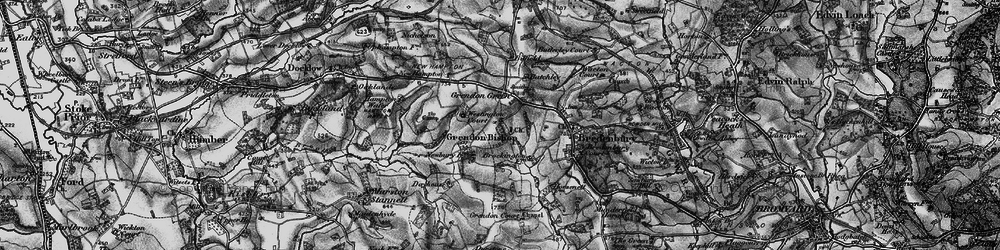 Old map of Westington Court in 1899