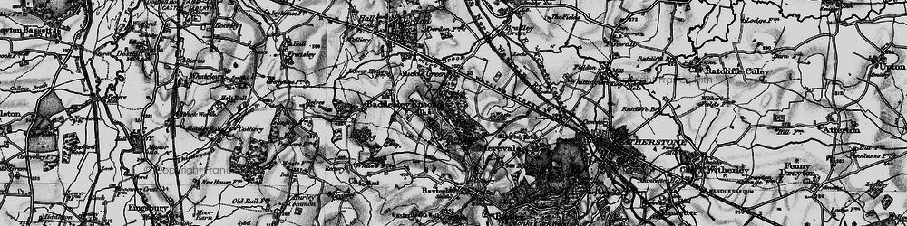 Old map of Baddesley Ensor in 1899