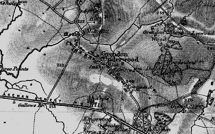 Old map of Grendon Underwood in 1896