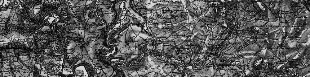 Old map of Woodtown in 1896