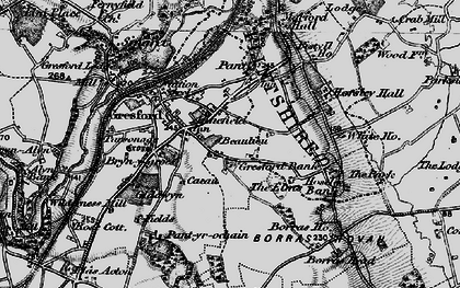 Old map of Gresford in 1897