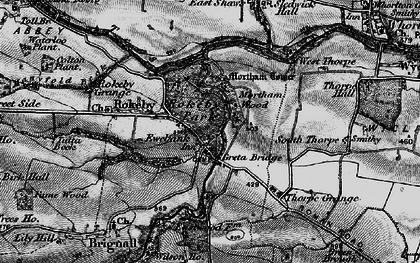 Old map of Greta Bridge in 1897