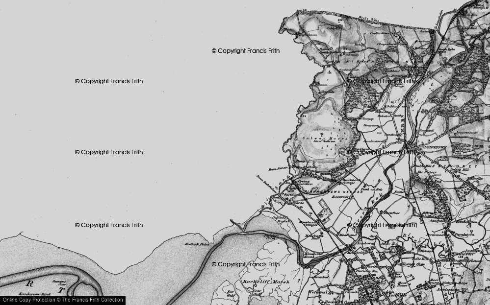 Old Map of Gretna Green, 1897 in 1897
