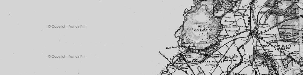 Old map of Gretna Green in 1897