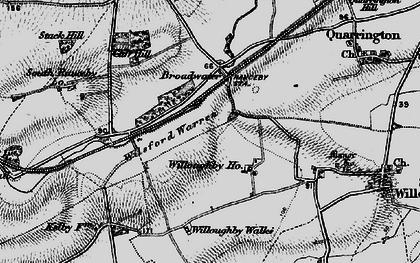 Old map of Wilsford Warren in 1895