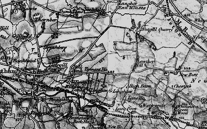 Old map of Langber in 1898
