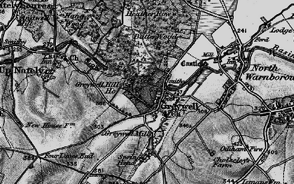 Old map of Greywell in 1895