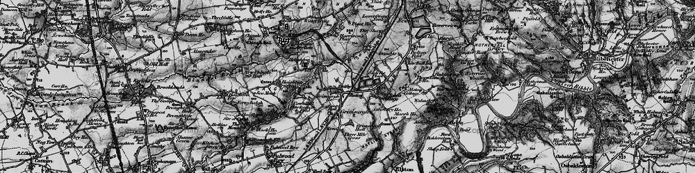Old map of Alston Wood in 1896