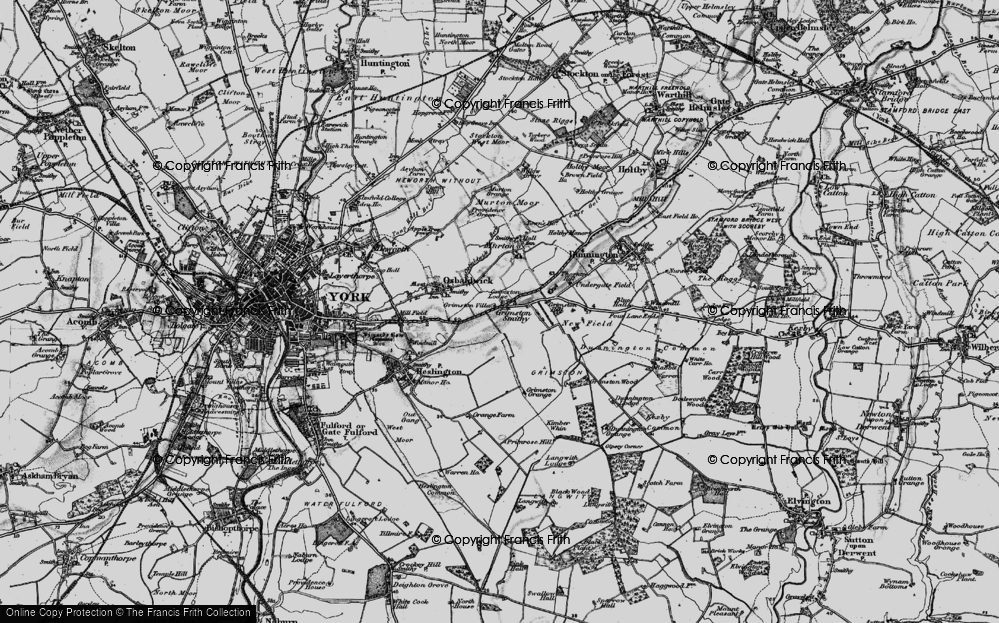 Old Map of Historic Map covering Langwith Lodge in 1898