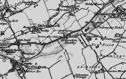 Old map of Langwith Lodge in 1898