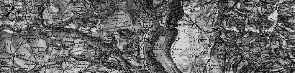 Old map of Grindleford in 1896