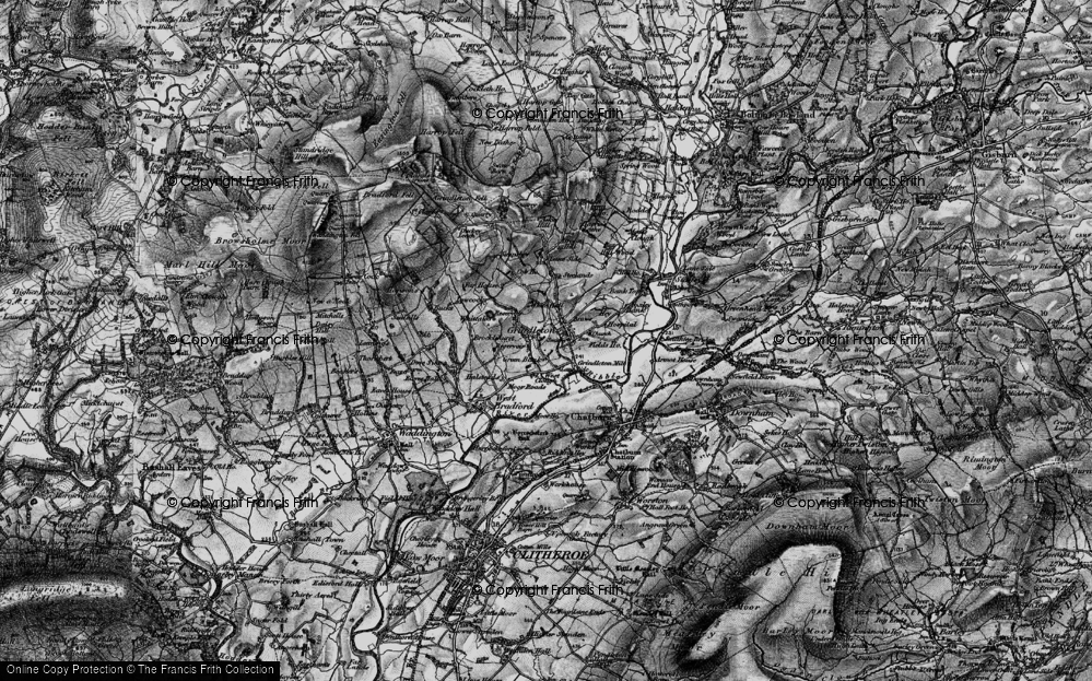 Old Map of Historic Map covering Asker Hill in 1898