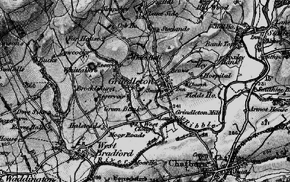 Old map of Asker Hill in 1898
