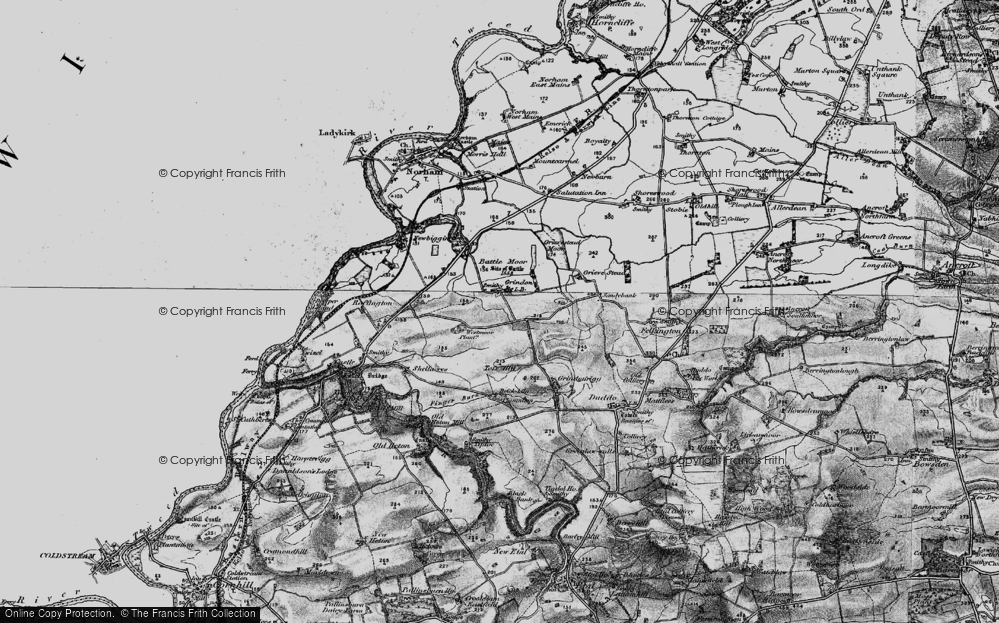 Old Map of Historic Map covering Toft Hill in 1897