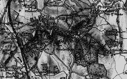 Old map of Woodstile in 1899