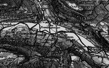 Old map of Grinton in 1897