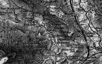 Old map of Aisgill Moor in 1897