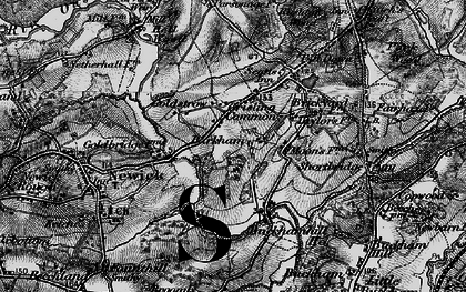 Old map of Barkham Manor Vineyard in 1895