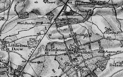 Old map of Grittleton in 1898
