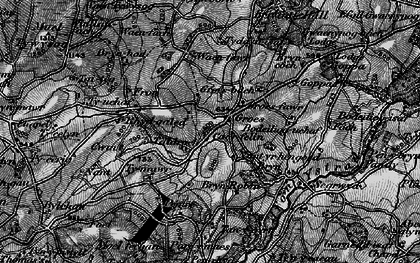Old map of Afon Ystrad in 1897